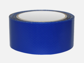 PVC-Klebeband blau Button